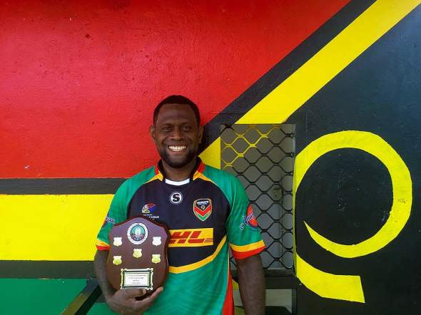 Vanuatu Rugby League star Jason Pakoasongi – maintaining a brave face. Photo: VRL